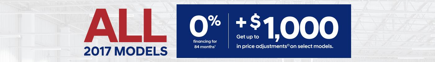 0% Financing on all 2017 Hyundai Models during September at Pathway Hyundai