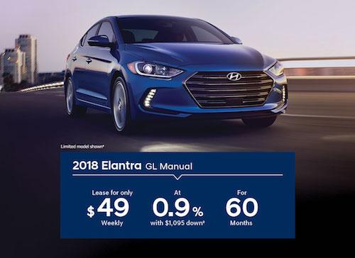 2018 Hyundai Elantra Lease Special