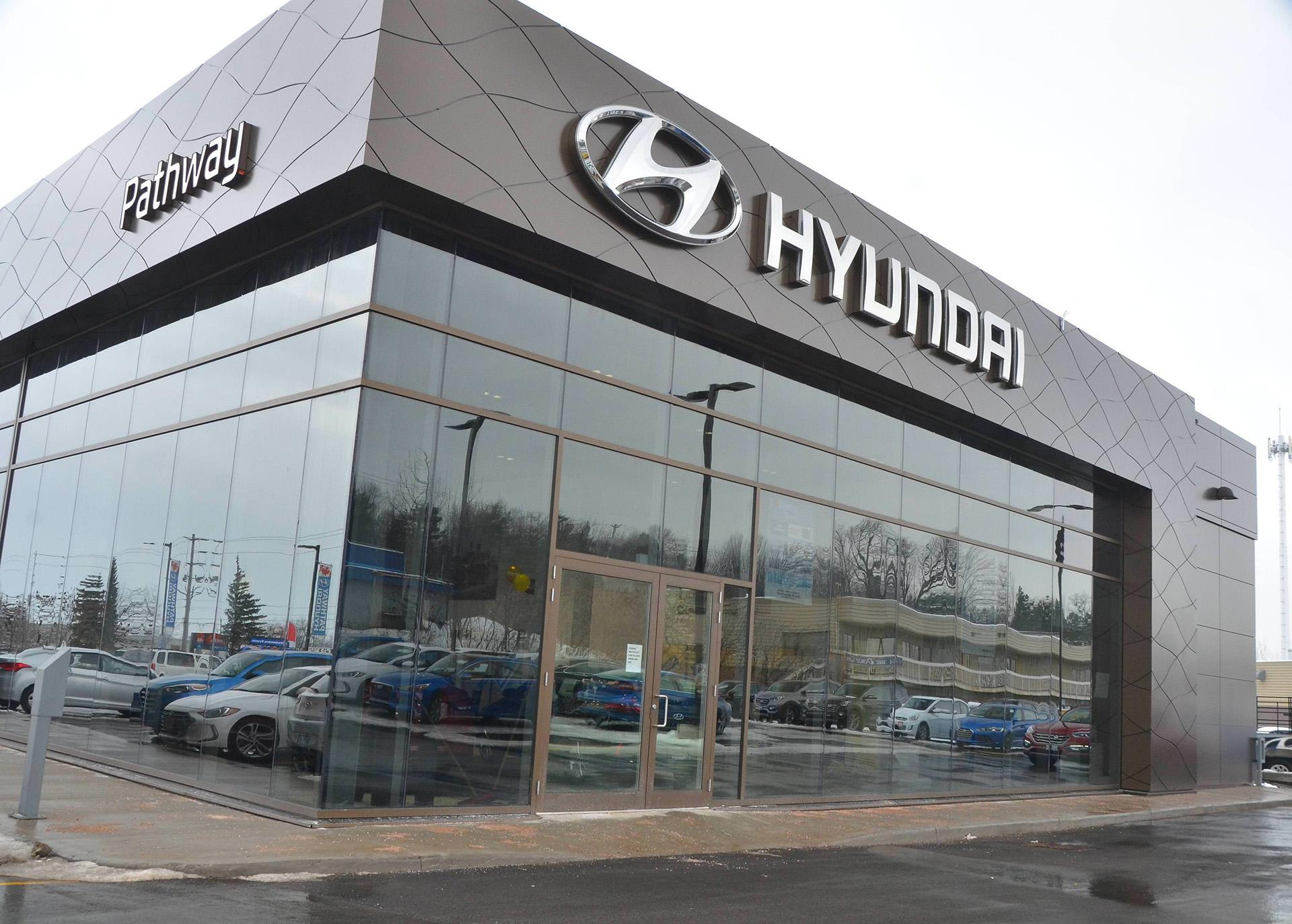 Pathway Hyundai Showroom with Logo