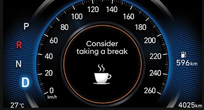 The 2020 Sonata Safety Technology lets you know when its time to take a break