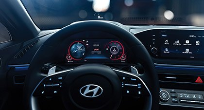 All Digital Cluster Display in the new 2020 Sonata