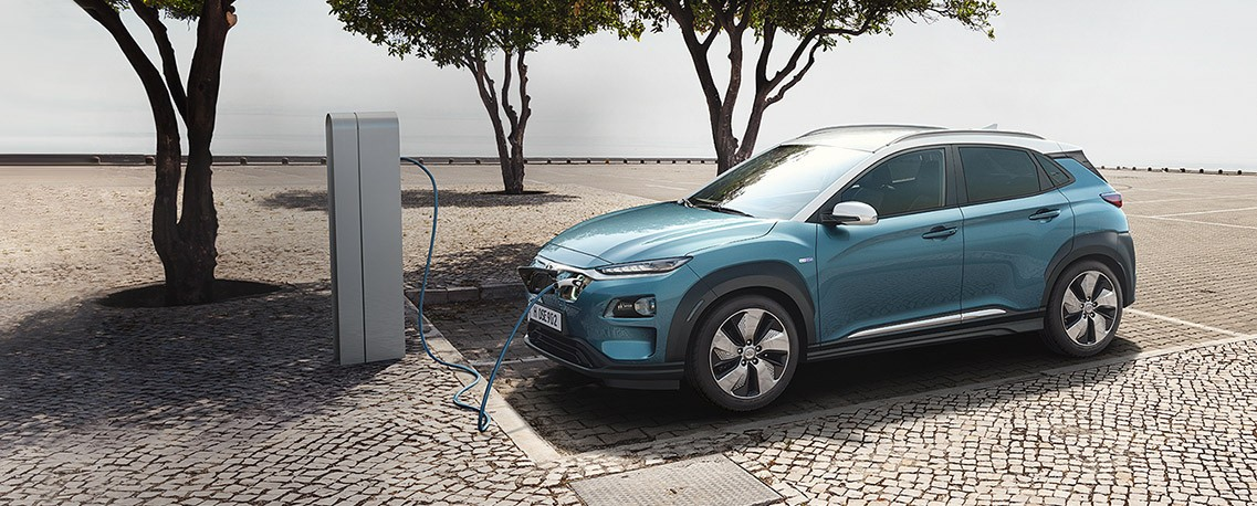 The 2020 Kona Electric is at Pathway Hyundai in Orleans, ON