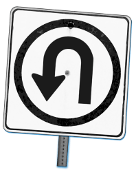 Uturn_Sign_tilt-Custom